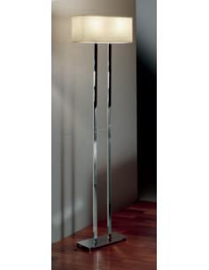 FLOOR LAMP POLISHED CHROME C/LAMPSHADE PLASTIC