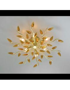 Ceiling light CRYSTALLIVS gold 6 lights d.70