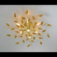 Ceiling light CRYSTALLIVS gold 6 lights d.70