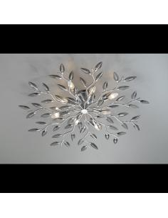 Ceiling light CRYSTALLIVS chrome 6 lights d.70