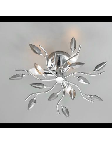 Ceiling light CRYSTALLIVS chrome 8 lights d.86