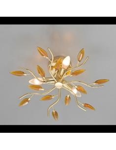 Ceiling light CRYSTALLIVS gold lights 3 d.43