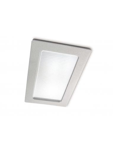 EcoPower - Spot incasso singolo rettangolare alluminio