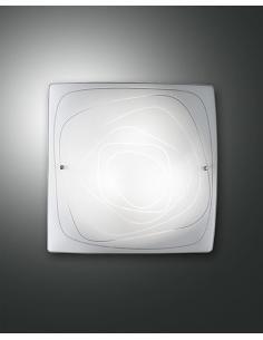 LYNN LAMPADA SOFFITTO WHITE 40x40