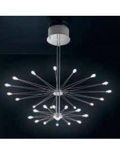 ELETTRA CHANDELIER, 24 LIGHTS WITH BULBS