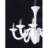 Ideal Lux 019383 Bianco Lady SP5 Lampada a Sospensione Bianco