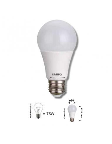 DROP E27 12W 1055Lm WARM WHITE