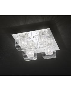 CEILING light POLISHED CHROME C/ CLEAR GLASS 40x40cm