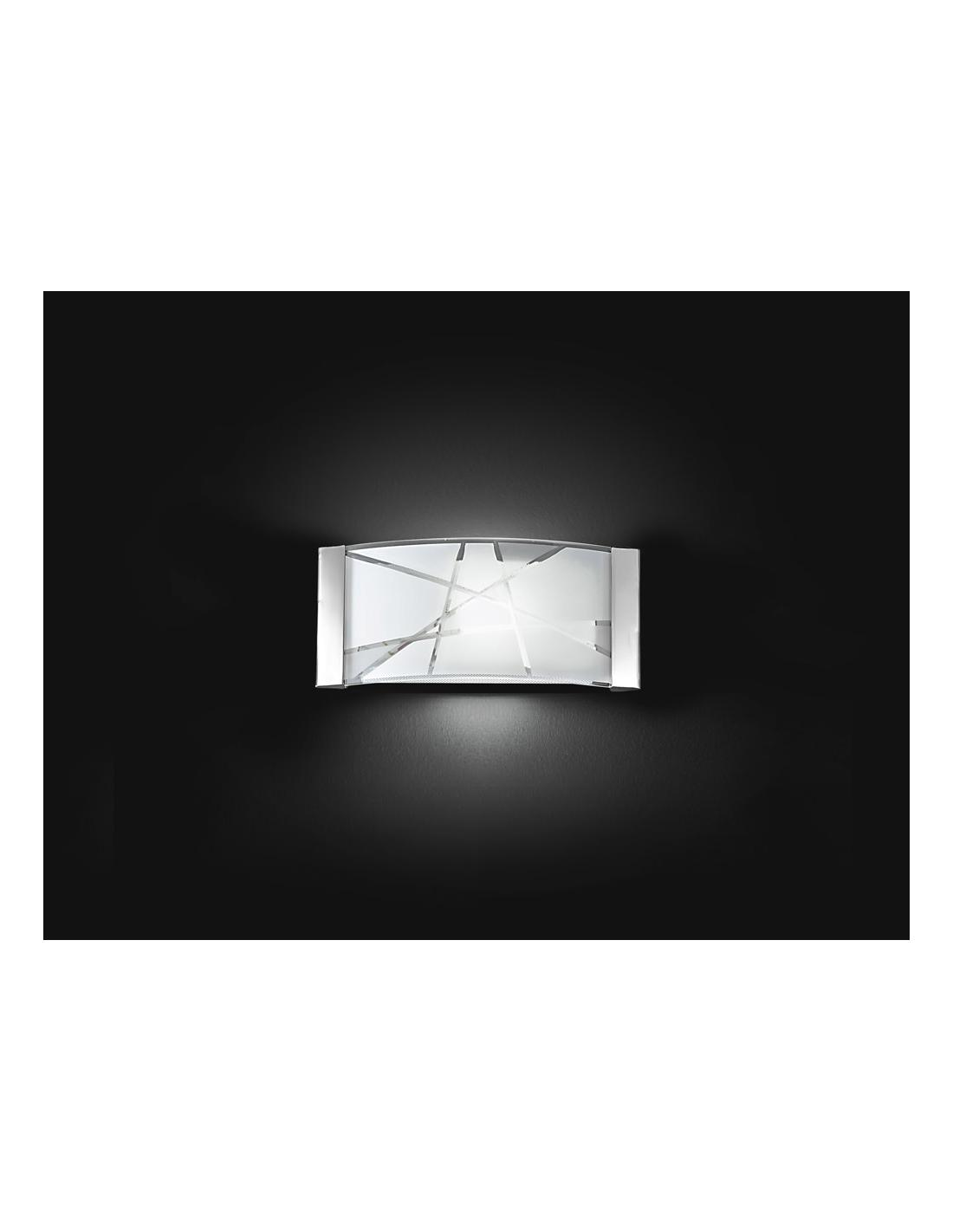 Perenz 5944 Wall-Lamp Metal Glass Decorated 33x16