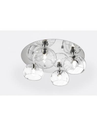 CEILING LIGHT POLISHED CHROME C/ CLEAR GLASS