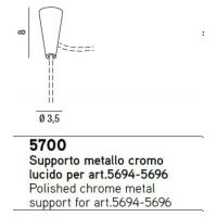 SUPPORT METAL POLISHED CHROME FOR ART.5694-5696