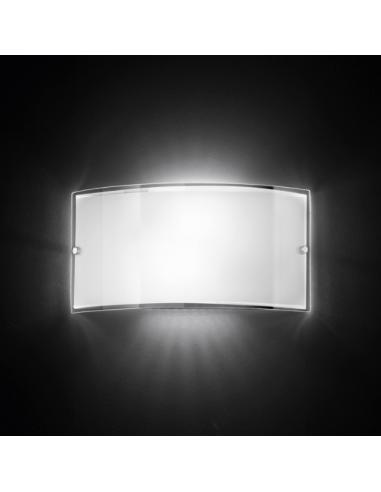 Wall SCONCE IN WHITE GLASS 33x17cm