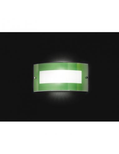 APPLIQUE GREEN GLASS 33x17cm
