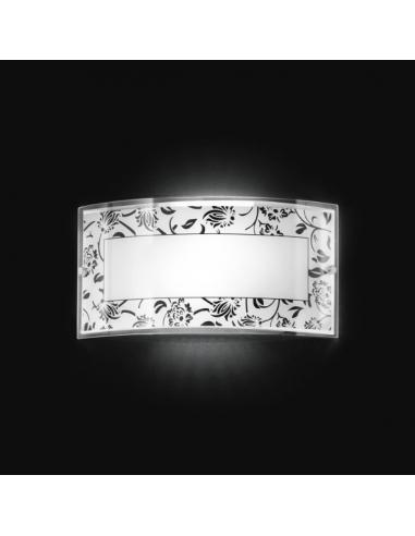 Wall SCONCE IN GLASS WITH BLACK DECORATION 33x17cm