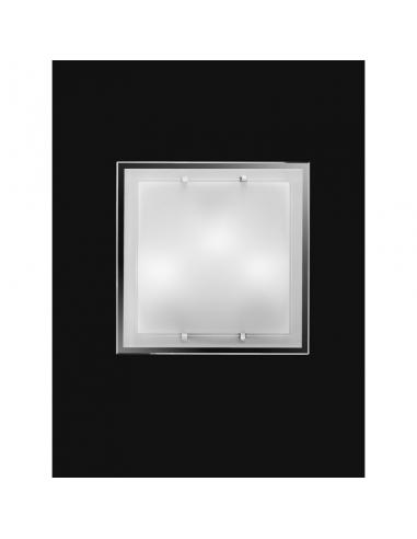 CEILING light with WHITE GLASS 40x40cm