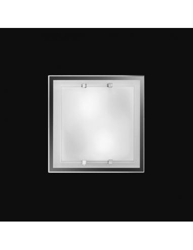 CEILING light with WHITE GLASS 30x30cm