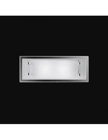 Wall SCONCE with WHITE GLASS 40x15cm