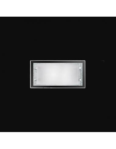 APPLIQUE VETRO BIANCO 30x15cm