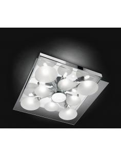 CEILING light with FROSTED GLASS AND TRANSPARENT 35x35cm