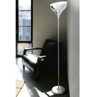 FLOOR LAMP IN METAL POLISHED CHROME WITH DICHROIC ADJUSTABLE