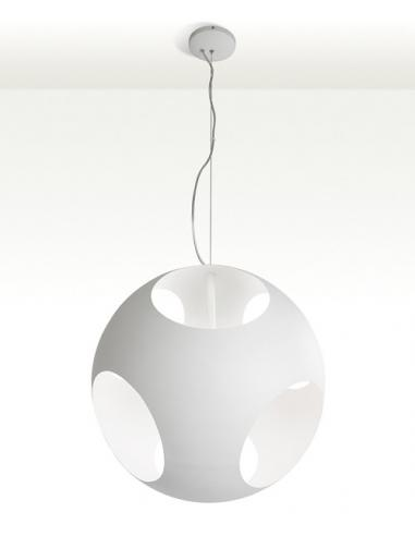 SUSPENSION BALL PAINTED METAL COLOR, WHITE