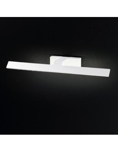 APPLIQUE IN PAINTED METAL COLOUR WHITE L53cm