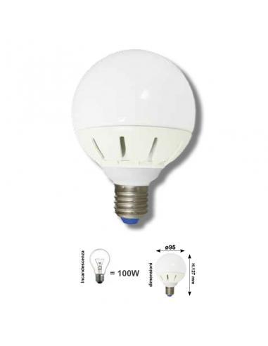 GLOGO D.95 E27 16W 1350Lm COLORE LED BIANCO CALDO