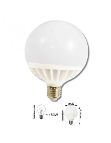 GLOBO D.120 E27 24W 2150Lm COLORE LED BIANCO NEUTRO