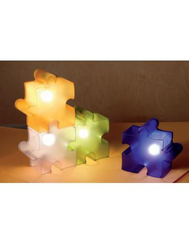PUZZLE TABLE LAMP WHITE/TRANSPARENT