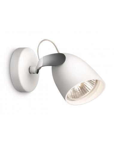 CATALPA Spot singolo in metallo bianco