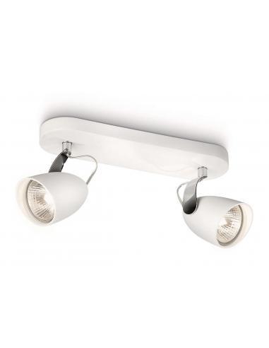 CATALPA Barra spot 2 luci metallo bianco