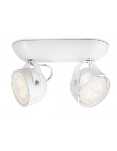 Dyna - Barra spot LED 6W bianco 2 luci