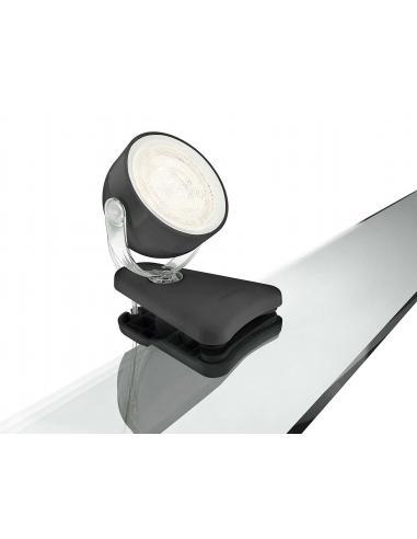 Dyna Single spot LED clip 3W black