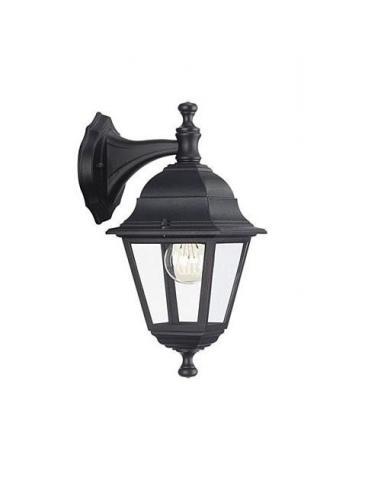 Lima wall Lamp lantern down black 1xE27 60W (Bulb excl.)