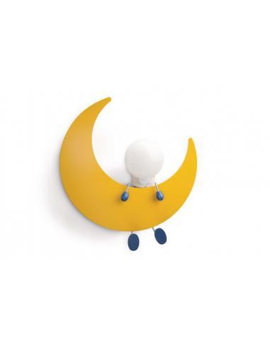 Lunardo - Lampada da soffitto bambino con luna e omino