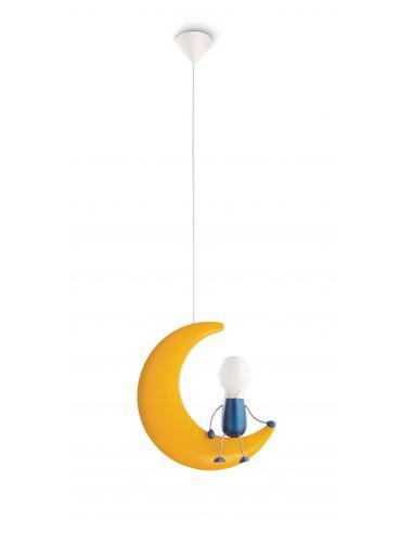 Lunardo - Sospensione bambino luna con omino