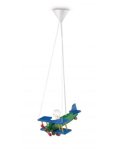 Yumbo - Suspension child airplane wood multicolor