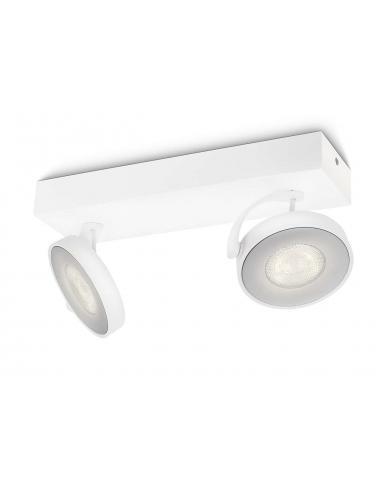 Clockwork - Barra spot LED bianca 2 luci
