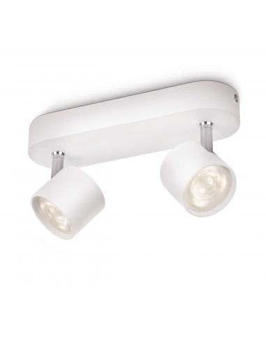 Star - LM Barra spot 2 luci LED alluminio bianco
