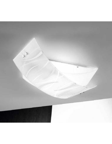 AGNES Ceiling light with a white middle