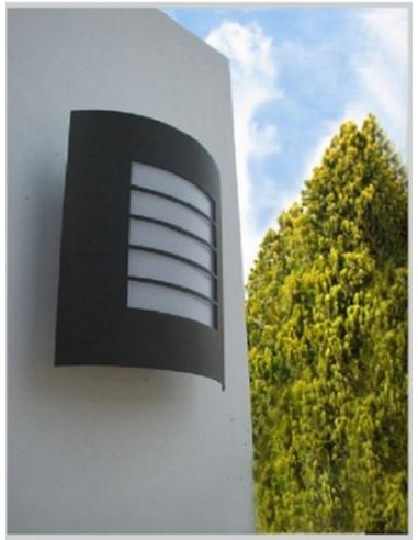 Oslo wall Lamp metal curved anthracite