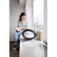 Nister - Lampada da tavolo LED ovale in metallo nero