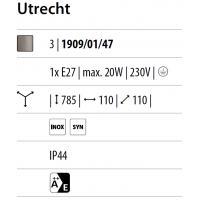 Utrecht - Post medium steel pipe