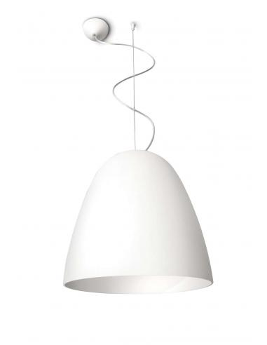 Glad - Suspension dome of white frosted glass, diam. 28cm