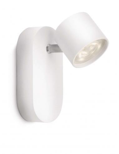 Star - LM Spot singolo LED bianco alluminio