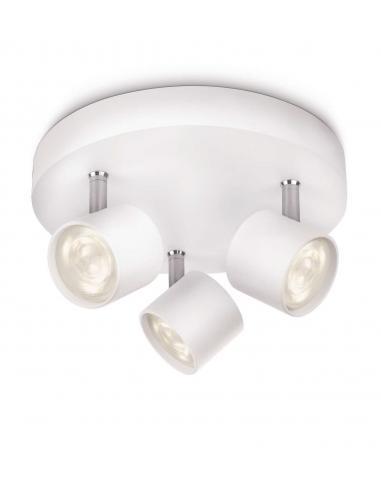 Star - LM ceiling Lamp 3 spot LED white aluminium