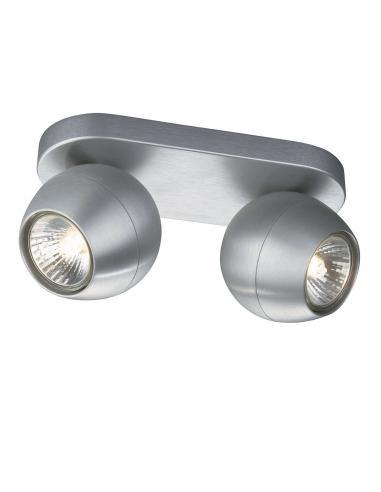 PLANET Barra 2 spot alluminio