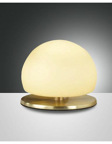 MORGANA TABLE LAMP BRASS SAT AMBER