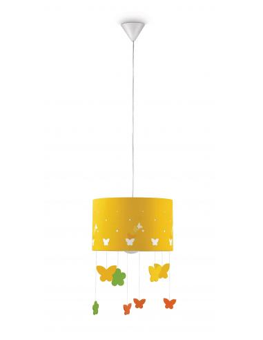 Maripo - Suspension yellow with butterfly pendants