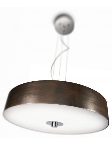Fair - Sospensione circolare doppio vetro luminosita regolabile diam. 44,4cm 2GX13 W55